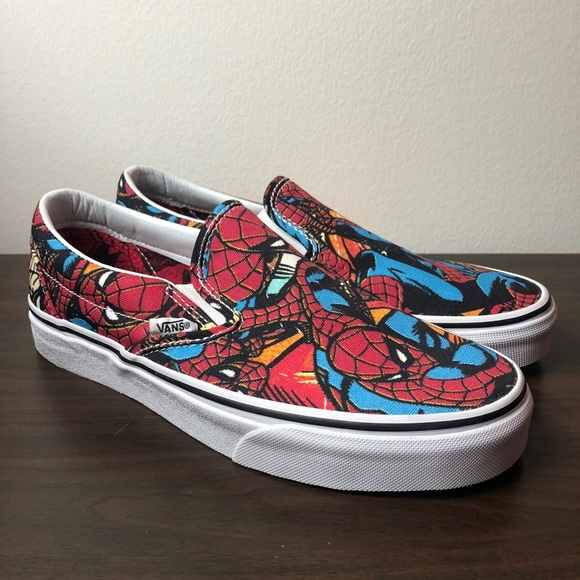 55ac6a191a97 Vans Women s Classic Slip On Marvel Spider-Man